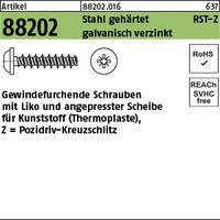 ART 88202 RST mit LIKO & Pozidriv Z 3,5 x 16 -Z Stahl geh., gal Zn gal Zn S