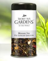 Fiji Litschi Lagoon Weisser Tee Lychee-Pfirsich-Aroma Secret Tea Gardens 125 g