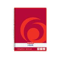 Notizblock, Seitenspirale, ja, 70 g/qm, A5, kariert, 80 Blatt