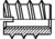 DIN 7965 Einschraubmuttern mit Schlitz M6x12x25mm HP