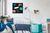 Glas-Magnettafel Be!Board-beboard-ambiente-wohnzimmer-45x45-black-a