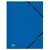 5 ETOILES Chemise 3 rabats et �lastique en polypropyl�ne 4/10e bleu marine.