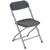 Chaise Polyfold pliante en plastique Noir, 4 pieds en acier époxy aluminium - Hauteur totale 80 cm