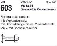 DIN603 M8x70
