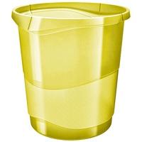 Papirkosár Esselte Colour Ice 14l áttetsző sárga