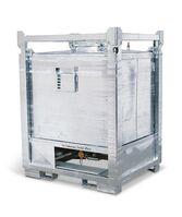 ASF-Behälter mit Bodenauslauf, 1000 Liter Volumen, feuerverzinkt, Artikelbild