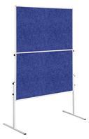 Legamaster Moderationswand ECONOMY, 120 x 150 cm, Blau, Stoffoberfläche