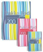Pukka Pad Jotta Notebook Wirebound Plastic Ruled 80gsm 200pp A5 Assorted Ref JP021 3/4 [Pack 3]