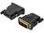 DVI Adp. DVI(18+1)-HDMI type AM/F DVI-D single link HDMI 13 Adaptery