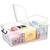 CEP Boîte de rangement Smart Box Strata avec couvercle clipsé dims int.36x59,1x21,6cm transparent 50L