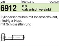 DIN6912 M20 x 160 mm Stahl galvanisch verzinkt 8.8