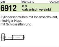 DIN6912 M12 x 45 mm Stahl galvanisch verzinkt 8.8