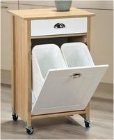 KESPER Küchenwagen mit Mülleimer, Sonoma Eiche Maße: B 50 x H 78,5 ...