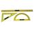 SAFETOOL Set de traçage tableau aimanté règle equerre rapporteur plastique incassable jaune