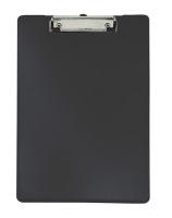 Normalansicht - Ecobra Schreibplatte A4 aus Polypropylen mit gummierter Klemmschiene, schwarz