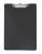 Normalansicht - Ecobra Schreibplatte aus kaschiertem Polypropylen (PP) schwarz, DIN A4, Stahl-Klemmschiene an kurzer Seite