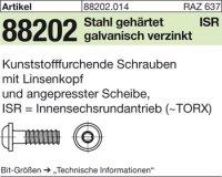 Schrauben für Kunstst. 3x8-T10