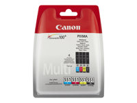 Canon CLI-551 C/M/Y/BK Vier-Farben-Multipack w/o Sec