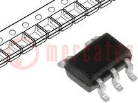 IC: digitális; NOR; Csatorna:1; Bemenetek:2; SMD; SC70-5; -40÷85°C