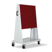 Produktbild - perfo Rack plus mobil 4 Lochplatten BxTxH: 1000x650x1600mm RAL 7035/3004