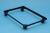 Really Useful Box accessoire onderstel met wieltjes (diameter: 4,5 mm), uit zwarte PVC