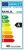 Energieeffizienzetikett für ekeltrische Lampen