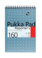 Pukka Metallic Reporters Pad Wirebound Perforated Feint Ruled 160pp 80gsm 205x140mm Ref NM001 [Pack 3]