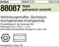 6kt.-Verbindungsmuffen M6x25SW10