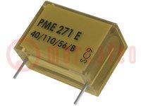 Condensador: de papel; X1; 10nF; 300VCA; Ráster:15,2mm; ±20%; THT