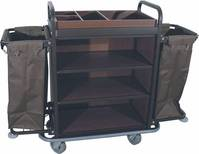 Detailabbildung - Wäschesammelwagen, Stahlrahmen lackiert - 146 x 50 cm, Höhe 120 cm