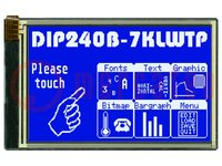 Display: LCD; grafisch; STN Negative; 240x128; blau; LED; 113x70mm