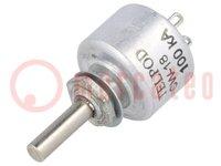 Potentiometer: axial; 1-Drehung; 100kΩ; 1W; ±20%; 4mm; linear; THT
