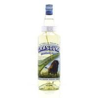 Grasovka Bisongras Vodka mit Büffelgrashalm in der Flasche (1 Liter - 40.0% Vol)