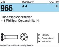 Linsensenkschrauben M3x12-H