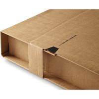 Versandkarton, mit Sicherungslasche, A4, i: 310 x 220 x 1 - 92 mm