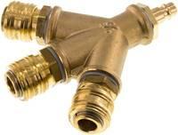 LWKDGKS312NW7 3-fach-Luftweiche mit Kupplungsdosen, Kuppl.-Stecker