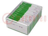 A készlet tartalma: biztosítékok; olvadó; 6,3x32mm; Érték:12