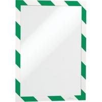 DURABLE Magnetrahmen DURAFRAME® SECURITY DIN A4 PVC grün/weiß 2 St./Pack. ·
