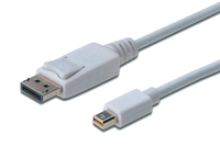 DisplayPort connection cable. mini DP - DP M/M. 1.0m. w/interlock. DP 1.1a conform.