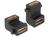 Adapter HDMI Buchse A an Buchse mit Schraubanschluss, 90° gewinkelt, Delock® [65510]
