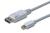 DisplayPort connection cable. mini DP - DP M/M. 1.0m. w/interlock. DP 1.1a conform.
