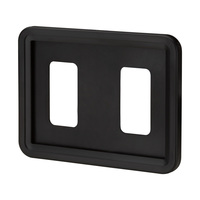 """Système porte-étiquettes """"Klick""""   noir sim. RAL 9005 A6"""