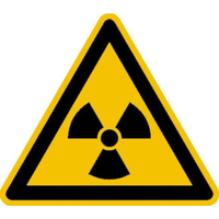 Modellbeispiel: Warnschild Warnung vor radioaktiven Stoffen oder ionisierenden Strahlen (Art.-Nr. 21.0175)