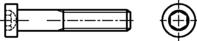 DIN 7984 Zylinderschrauben mit Innensechskant, niedriger Kopf 8.8 M20x50mm HP