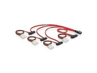 Kabel, mini SAS 36 Stecker zu 4x SAS 29pin (SFF 8087 > 4x SFF 8482 + Power), 0,5m, Delock® [83059]