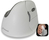 Evoluent VerticalMouse 4, für Rechtshänder, Bluetooth, weiß / grau