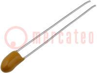 Kondensator: Tantal; 0,1uF; 35VDC; THT; ±20%; -55÷125°C; Serie: T350