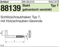 Schlitzschraubhaken 40x4,4x9