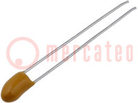 Condensatore: di tantalio; 1uF; 35VDC; THT; ±10%; -55÷125°C; 2,54mm