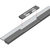 Produktbild zu Balkontürschwelle EIFEL TB-52, 6000 mm, silber eloxiert/grau
